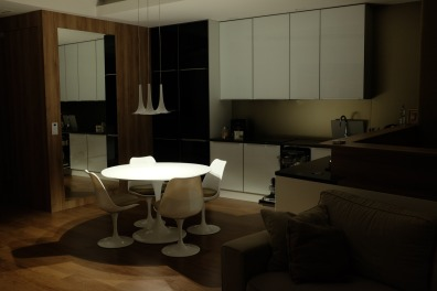 Kitchen/dining room again, but this time in romantic/initimate mode.
