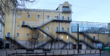 A very interesting building (a theatre, I think) - the numerous staircases are very intriguing.