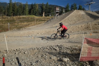 Whistler is really big on downhill mountain biking - looked really fun.