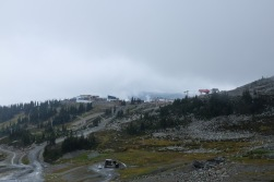 So far, so good - nice view on the station from where the Peak 2 Peak gondola operates to the other side of the valley.