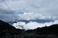 One of the many lifts that are waiting for the skiing season.