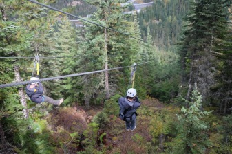 I did however go ziplining - scaling from one side of the valley to another on a line.